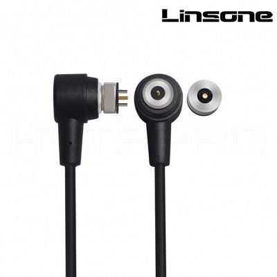 Magnetic 2 pin circular pogo connector overmold cable 6A max