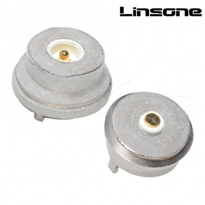 Round type 12V 1A circular pogo 2 pin magnetic connector LS-CON-M418